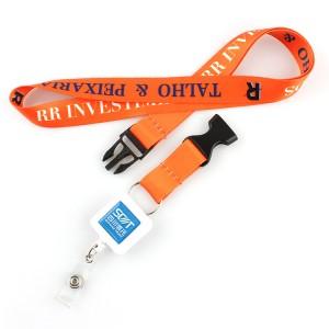 Eco-friendly badge holder lanyard with breakaway buckle