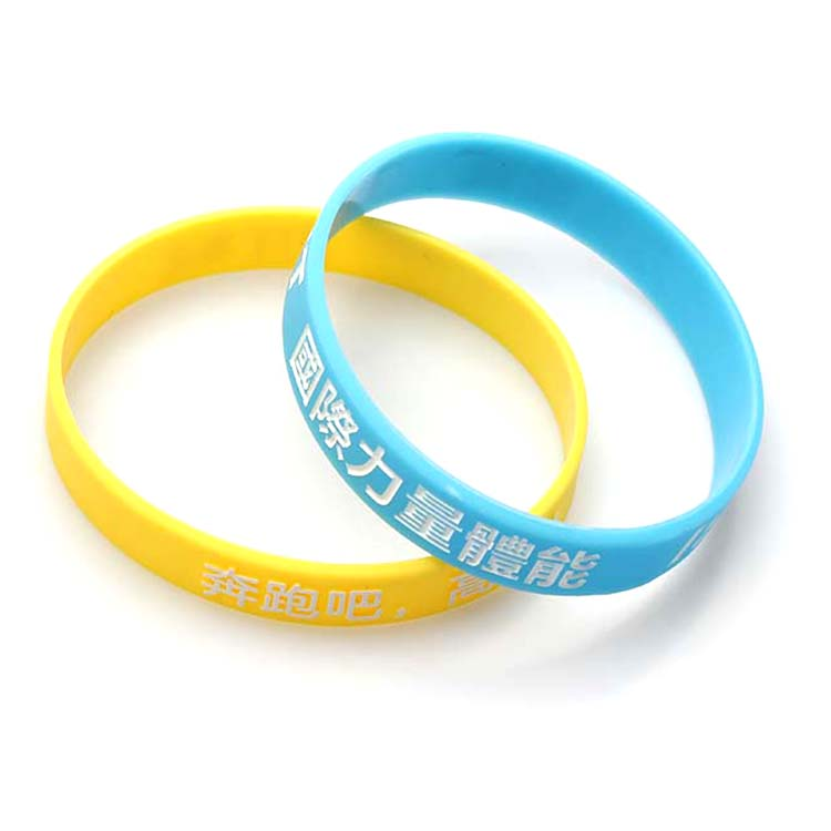 Top Suppliers Nylon Dog Collars Wholesale - China supplier cheap custom polyester fabric soccer silicone wristband – February Webbing