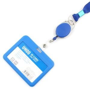 2019 hot sale dye sublimation id badge holder lanyard with custom logo