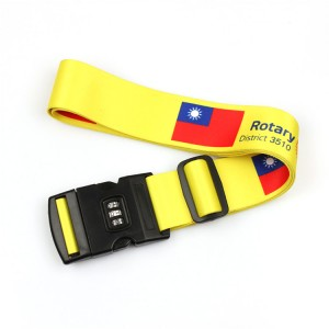 Contrasinal mala bloqueo seguro cinta equipaxe xunto personalizado con pechadura