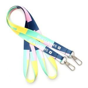 Personlized Products Slide Lock Wristband - Printed Fashion no Breakaway Safety Lanyards Polyester Neck Strap – February Webbing