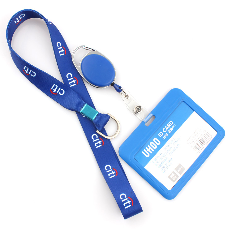 Short Lead Time for Lanyard Free Sample - 2019 hot sale dye sublimation id badge holder lanyard with custom logo – February Webbing