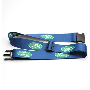 Custom sublimation printed adjustable polyester travel suitcase luggage strap