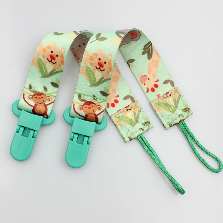 18 Years Factory Custom Print Lanyard - OEM colorful printing soft baby pacifier chain clip supplier – February Webbing
