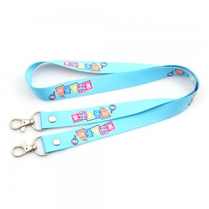 Double bulldog clip lanyards for special events (two hook / open ended)