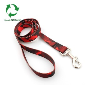 Factory sale fashion RPET recycled material customized pet dog  leash