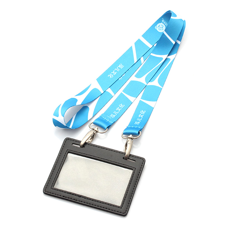 OEM design your own lanyard id card holder with double bulldog clips no minimum order Featured Image