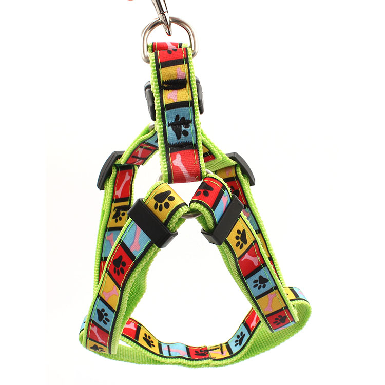 Hot Selling for Wristband Customized - Sublimation printed cute outdoor pet dogs harness with adjustable buckle – February Webbing