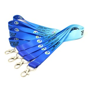 Sublimation polyester supreme lanyard with metal hook
