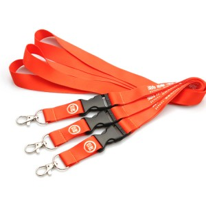 Customized Cheap heat transfer Printed Polyester Lanyards With Breakaway hook