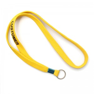 Personalized customized tubular lanyard with bull dog clip