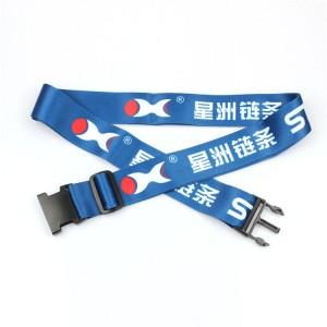 Personalizado novo poliéster produto equipaxe axustable cinta cinta co seu logotipo