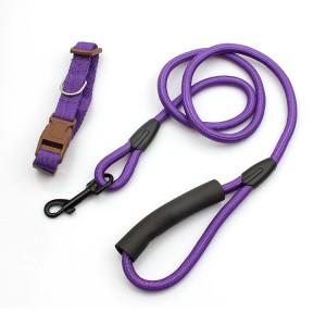Premium design free nylon climbing rope dog leash with padded handle