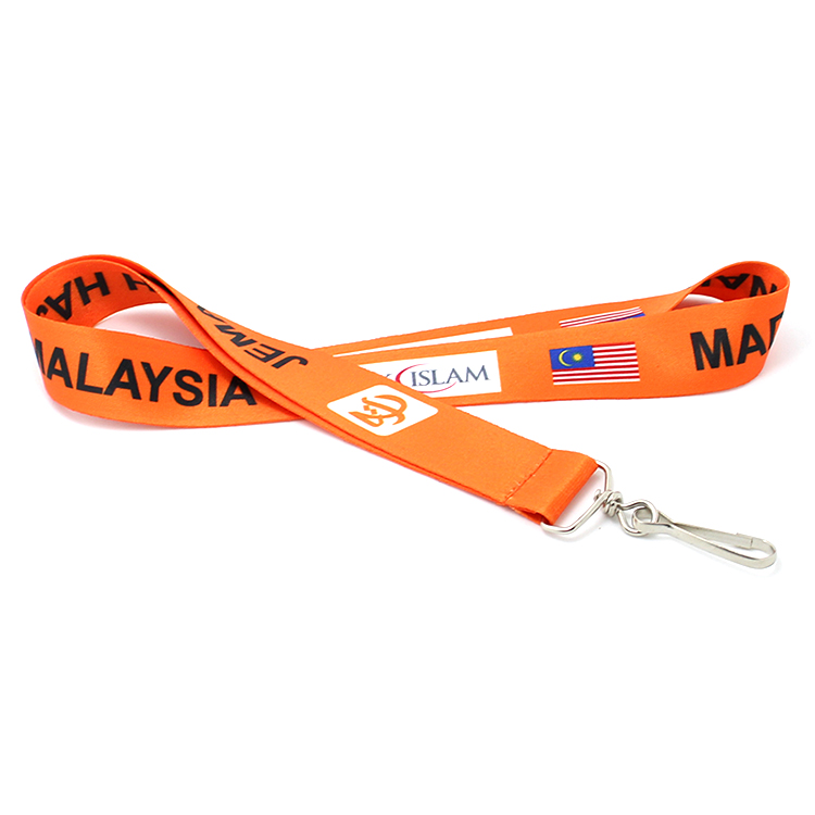 Quality Inspection for Subliamtion Pet Harness - Custom your logo heat transfer lanyard with J-hook for ID card – February Webbing