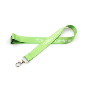 2019 custom heat transfer polyester lanyard with safety clip