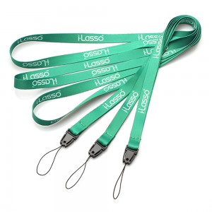 High quality custom rainbow colored lanyard maker for necklace keys