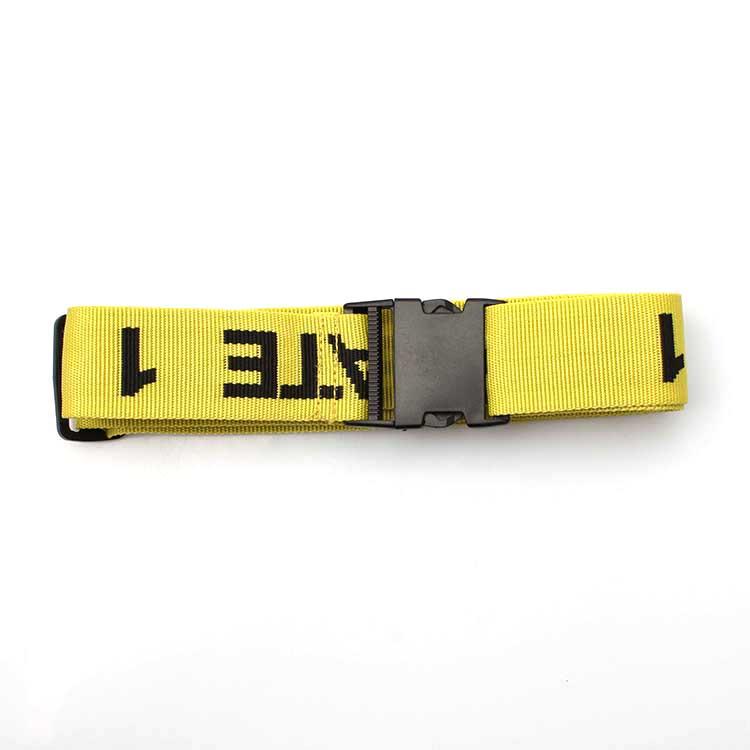 Trending Products Custom Logo Lanyard - Custom packing tag loop strap woven luggage belt with breakaway hook – February Webbing