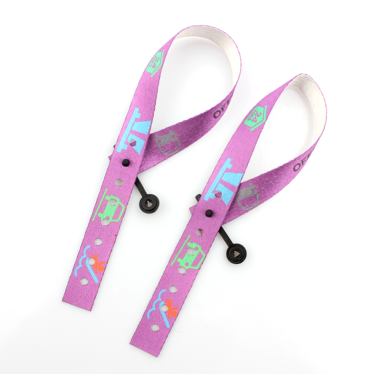 100% Original Factory Custom Short Lanyard - Custom made RPET wristband for promotion gifts with promotional price – February Webbing