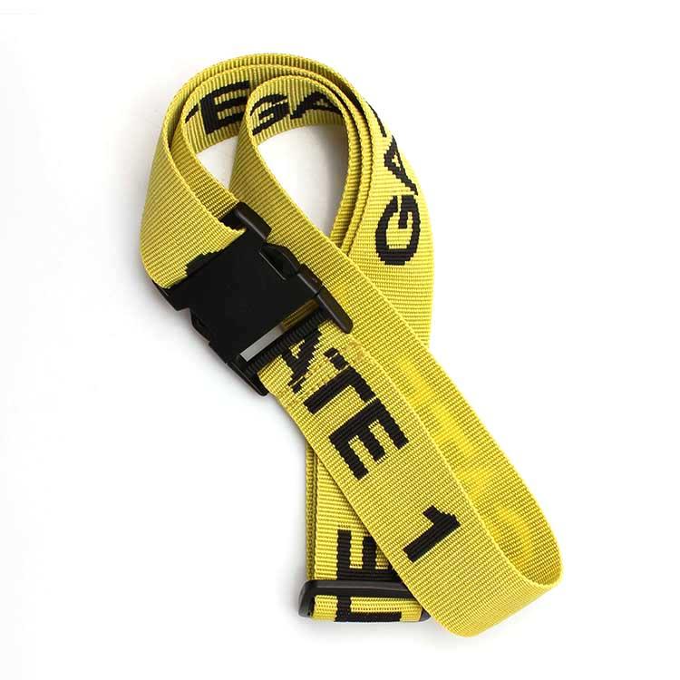 Best-Selling Bottle Holder Lanyard - Custom packing tag loop strap woven luggage belt with breakaway hook – February Webbing
