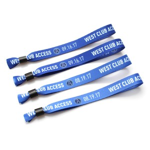 Company or events promotional wristband with high quality sliding closing lock