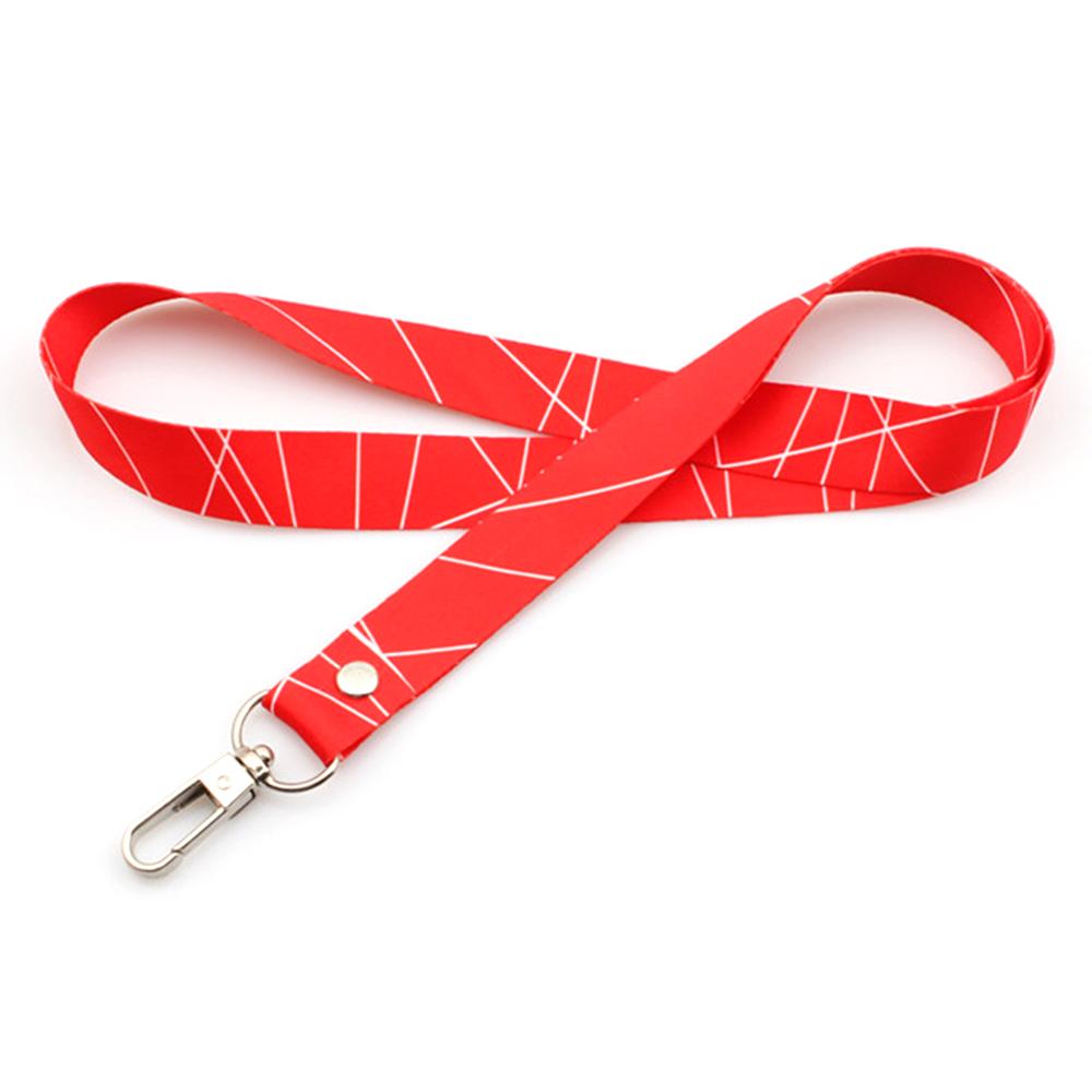 OEM Customized Custom Print Logo Dog Leash - Cheap promotion bulk crafts custom printing polyester lanyard – February Webbing