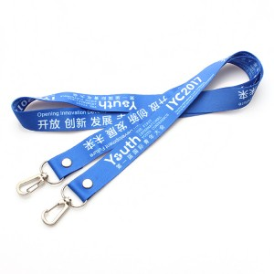Personalized Printed double hook lanyard with logo
