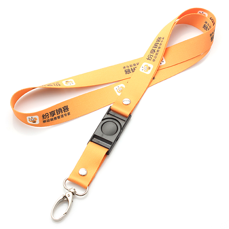 China Gold Supplier for Dog Leash And Collar - Hot sale custom sublimation printed football team nfl lanyard with detachable buckle – February Webbing