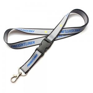 custom double printing bussiness lanyards with disconnect buckle