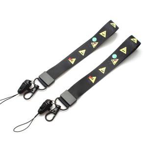 Custom polyester sublimation printed hand wrist strap lanyard
