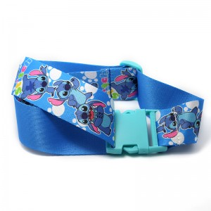 Popular free design sublimation printing Eco friendly custom polyester luggage belt