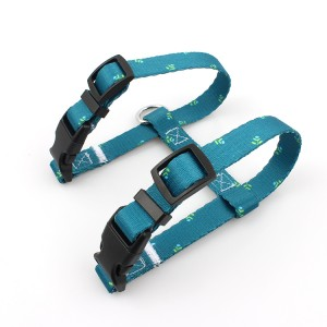 Custom pattern printed soft adjustable cat harness which made by China manufacturer