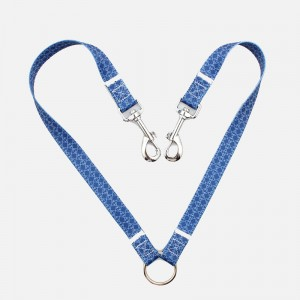 2019 hot sell fashion durable soft printed cute dual dog leash