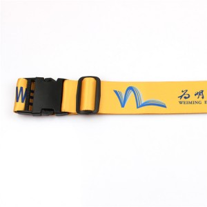Wholesale High Quality Custom Polyester Adjustable Luggage Belt with Logo Printing