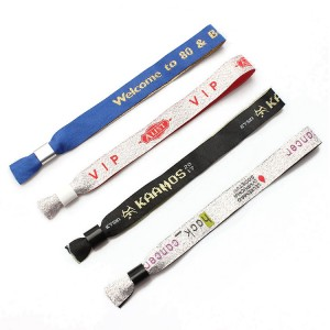 Eco friendly comfortable custom woven wristband no minimum order