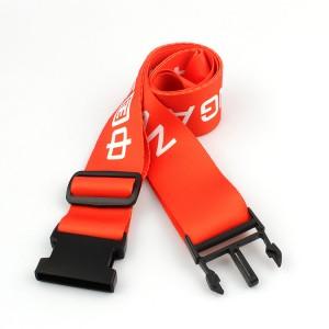 Heavy Duty Cross custom logo sublimation printing travel luggage belt with adjustable lock