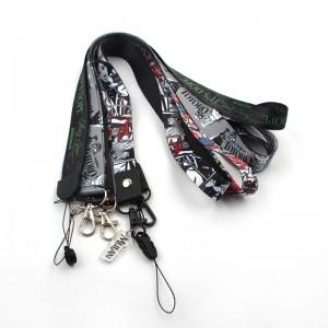 High quality keychain vape neck strap joker graffiti totoro Halloween anime lanyard with custom logo