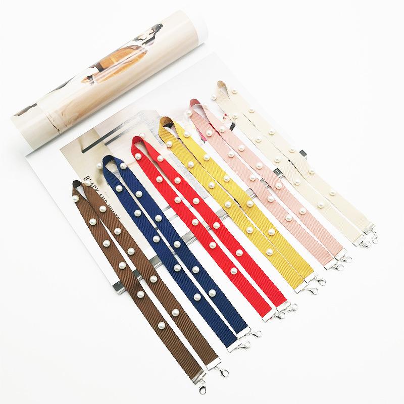 INS Korean Popular Masking Pendant Chain Set with Diamond String Flash Pure Yarn-dyed Ribbon Anti – Loss Tool Lanyard Featured Image