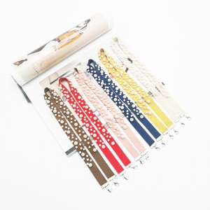 INS Korean Popular Masking Pendant Chain Set with Diamond String Flash Pure Yarn-dyed Ribbon Anti – Loss Tool Lanyard