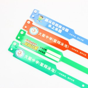 Custom logo event one time use id plastic wristband PVC for event