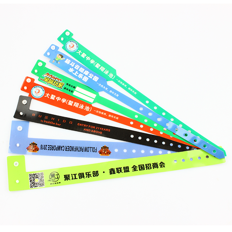 Hot sale fashion bracelet plastic PVC event wristband custom logo Featured Image