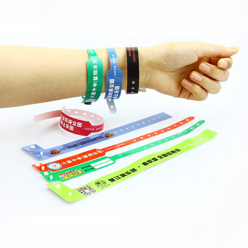 Custom logo event one time use id plastic wristband PVC for event Featured Image