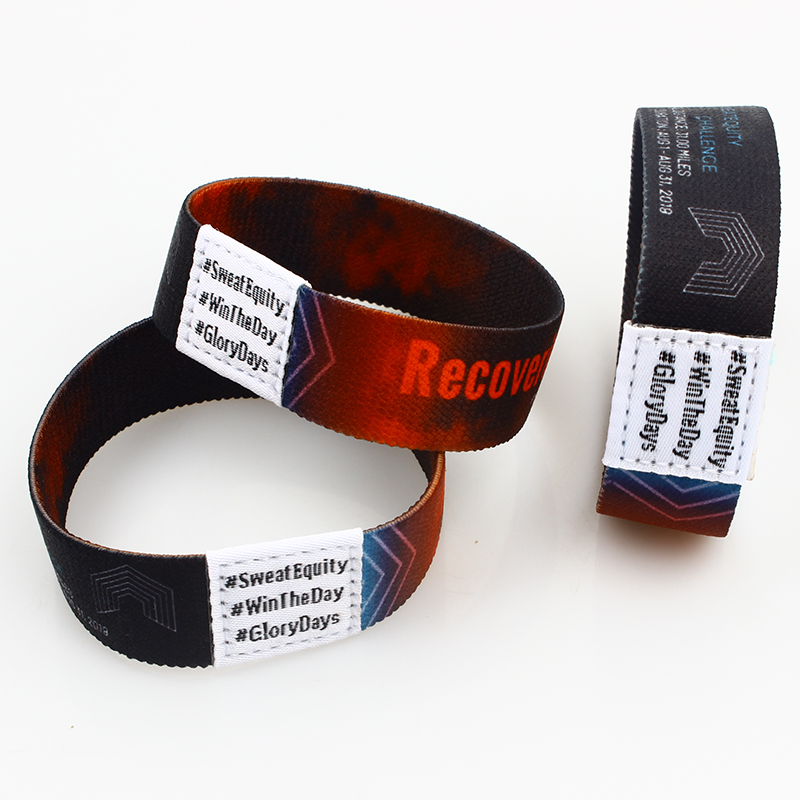 Custom logo fashion personalized bracelet elastic wristband for event Featured Image