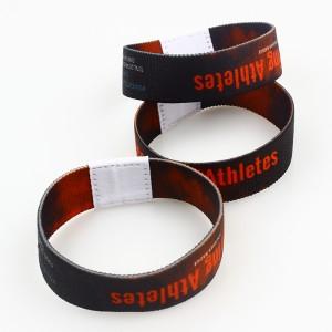 [Copy] Custom logo fashion personalized bracelet elastic wristband for event
