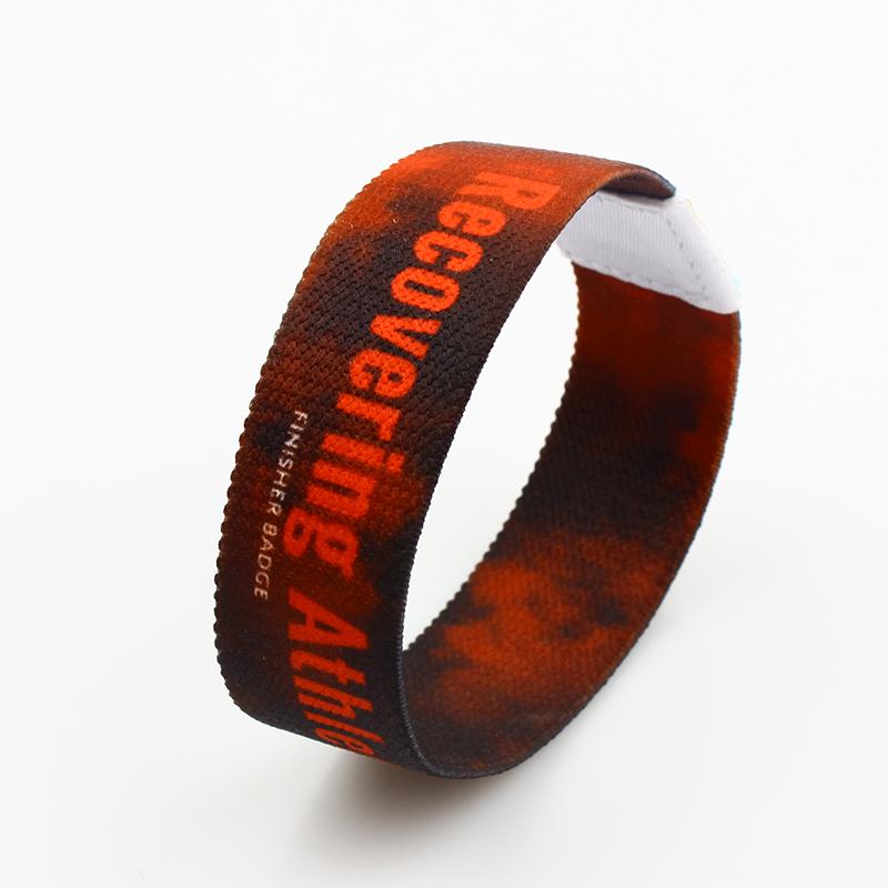 Wholesale custom logo fashion personalized elastic wristband for activity Featured Image