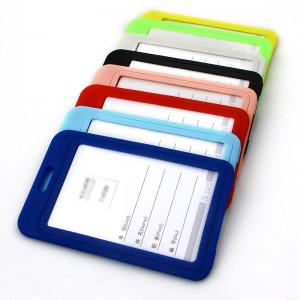 Custom fashional business pp plastci id card holder