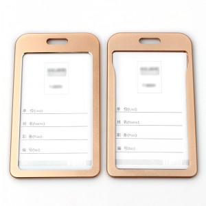 High quality aluminum alloy name badge id card holder for business