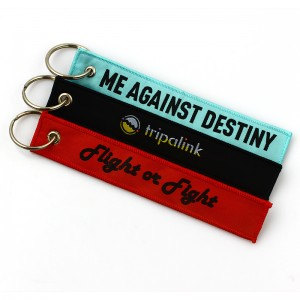 Personalized fashion polyester keychain custom wrist lanyard short