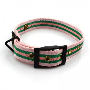 Customized personalized logo durable dog collar with metal buckle