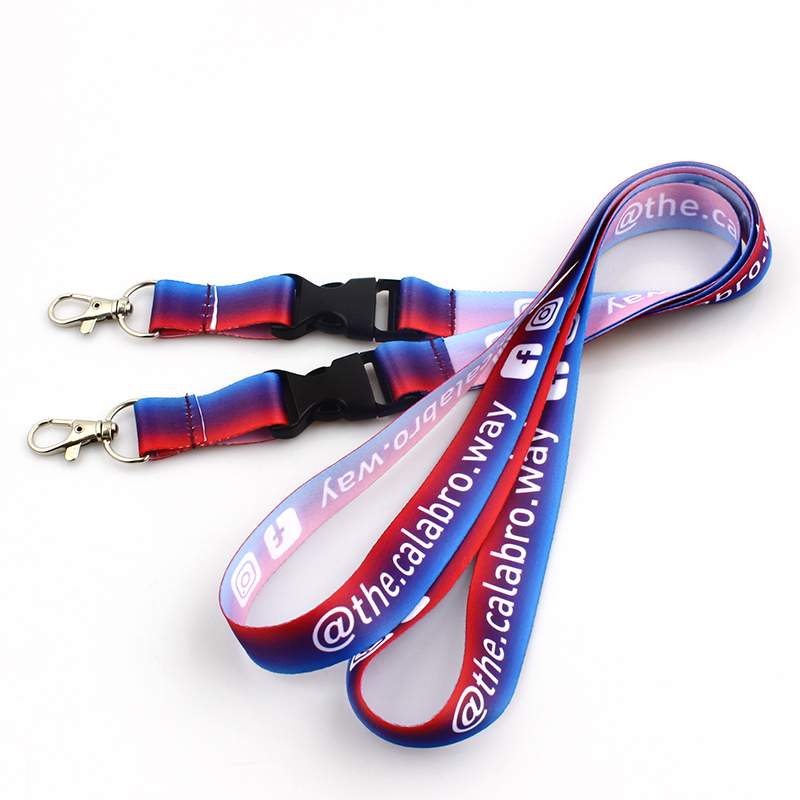 Professional China Printed Polyester Customized Lanyard  Sublimation printed custom lanyards Featured Image