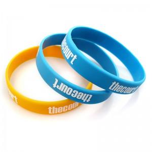 China Factory for Tsa Luggage Belt - Wholesale cheap custom silicone bracelet rubber wristband for sport – February Webbing